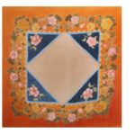 Quadrilateral Silk Veil Painting by Niagati