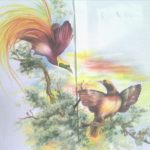 The Beautiful Painting of Bird of Paradise Painted in a Very Luxury Men's Shirt